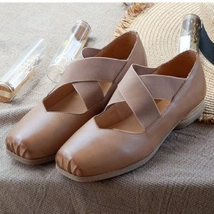 Shoes - Soft Leather Ballet Toe Shoes